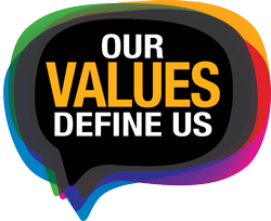 Our Values Define Us