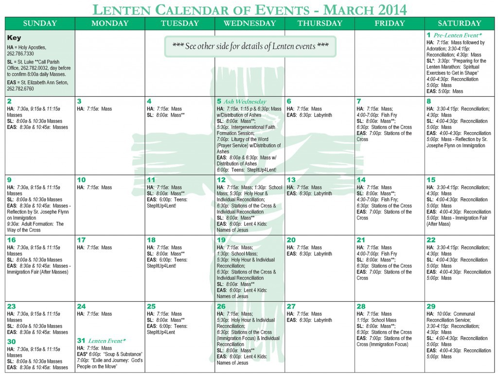 creating event calendars for busy schedules lpi