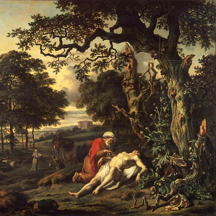 Parable of the Good Samaritan painting by Jan Wijnants, 1670.