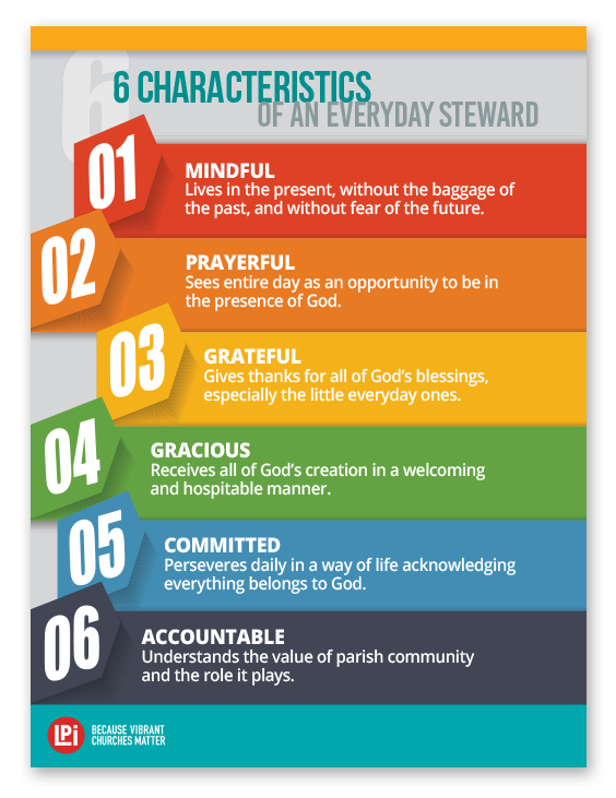 6 Characteristics of Stewardship Poster