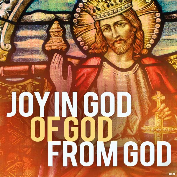 Joy in God of God from God